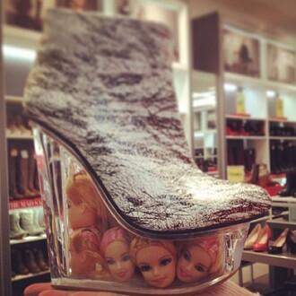 shoes heels fashion barbie doll high heels