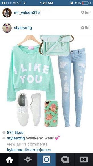 crop tops i like you sweater graphic sweater