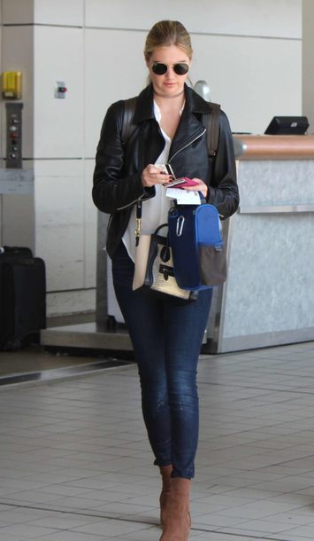 jacket jeans top fall outfits kate upton streetstyle