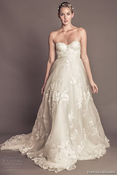 Dress wedding dress wedding lace embroidered long for Best bustier for strapless wedding dress