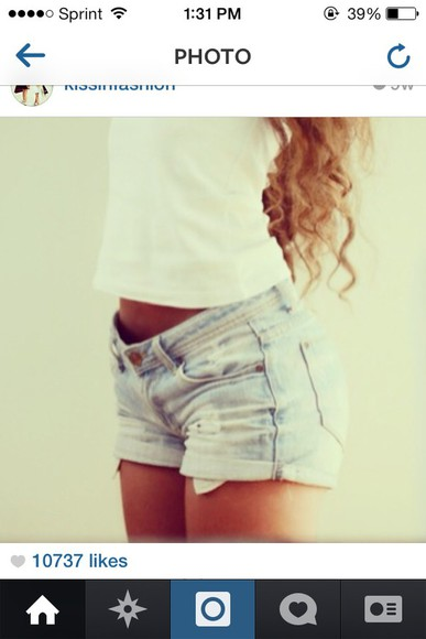 cute jeans denim blue denim shorts shorts style must have basic