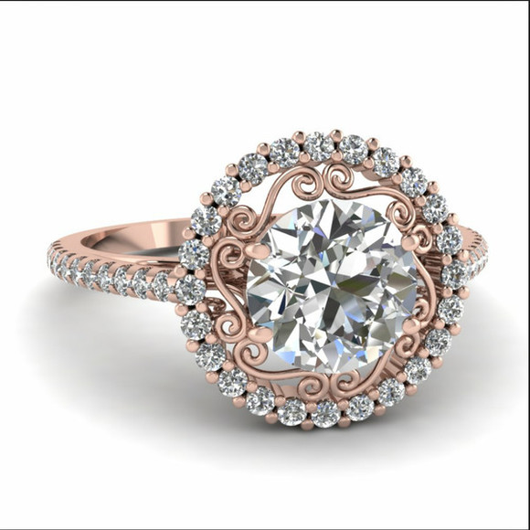 jewels engagement ring diamonds rose gold rose gold diamond ring pink ring