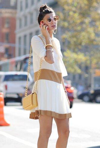dress fashion week streetstyle sunglasses