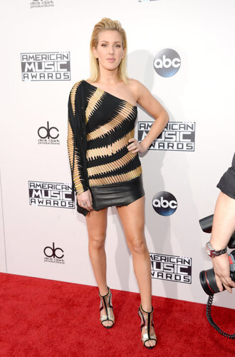 dress asymmetrical dress one shoulder ellie goulding sandals amas 2015 mini dress shoes