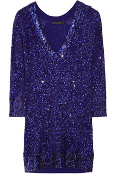 Donna karan sequined cashmere and silk
