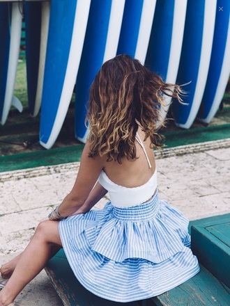 skirt beach top tumblr outfit bohemian california teenagers
