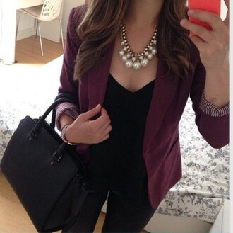 jacket fall outfits fashion toast fashion burgandy or blue beautiful smart blazer blazer pretty gorgeous sexy girly