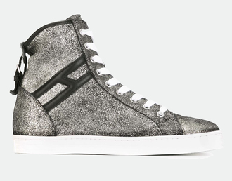shoes sneakers silver sneakers high top sneakers
