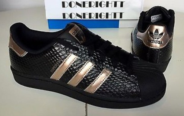 Adidas Superstar Rose Gold Black
