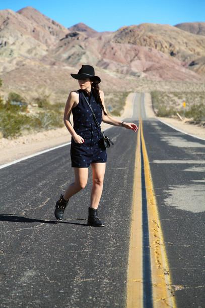 irene closet blogger jumpsuit shoes bag hat