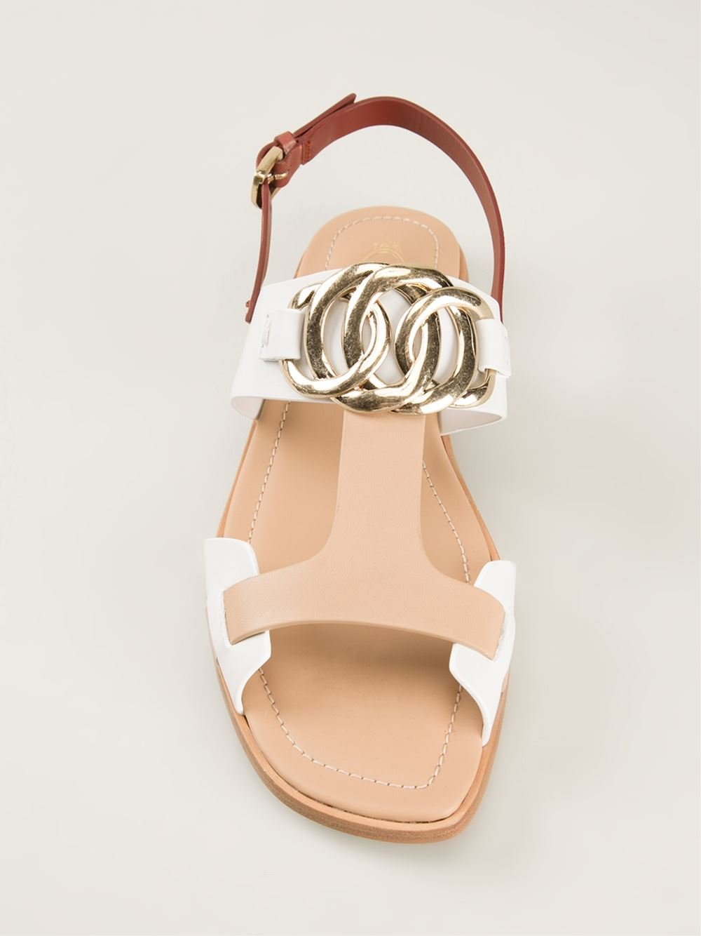 Tod's Tri-colour Sandals - Changing Room - Farfetch.com
