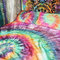 Tie dye duvet set - hippie bedding - rainbow bedding - egyptian cotton