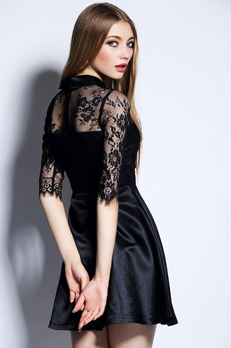 dress black dress sexy dress lace lace up mini dress women's fashion lace top wedding dress