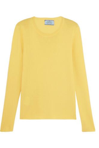 sweater pastel silk yellow