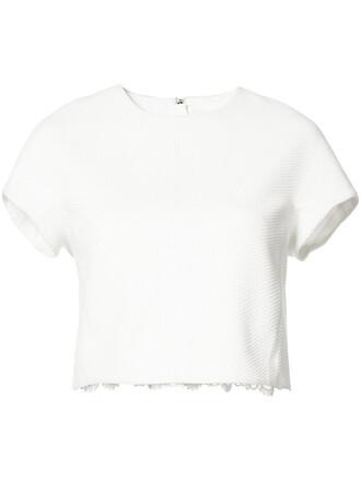 top short women spandex white