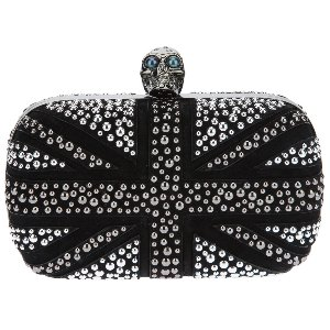 Alexander McQueen Black - Skull Box Britannia Clutch Bag - Sale