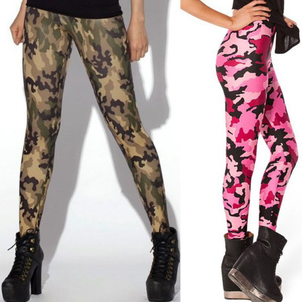 Tights Camouflage Camouflage Leggings Casual Fitness