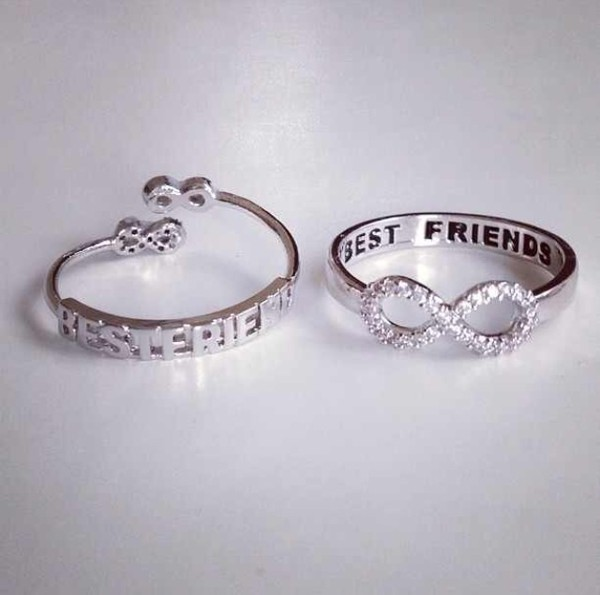 jewels ring silver silver ring bff best friends infinity ring infinity infinity ring