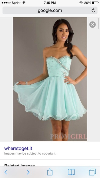 dress light blue homecoming strapless dress.