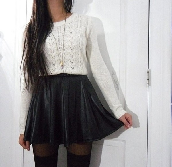 Skirt Grunge Black Pretty Cute Kawaii Nice Cool