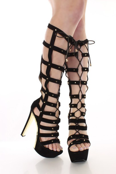 shoes gladiator boots