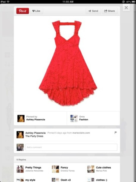 dress red red dress lace skater chic classy party party dress