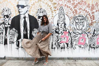 fashion foie gras blogger skirt shirt