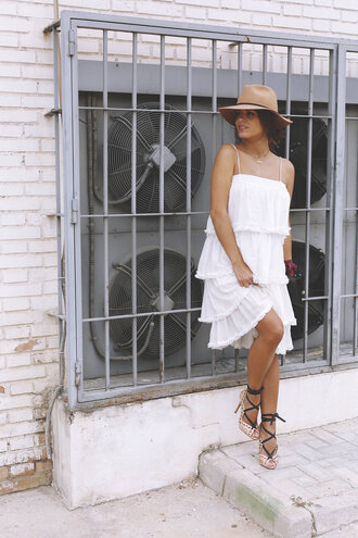 seams for a desire blogger hat white dress sandal heels