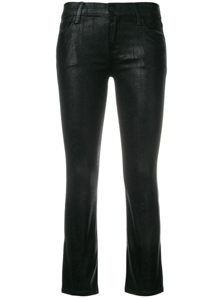 J BRAND jeans cropped jeans cropped women spandex cotton black