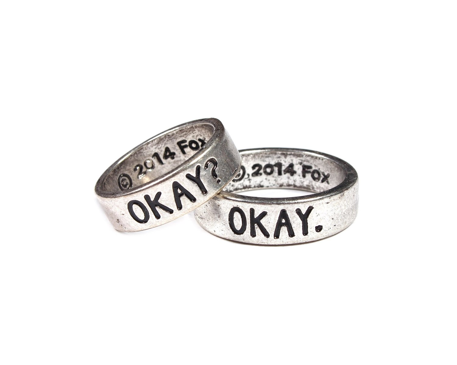 Amazon.com: the fault in our stars okay? okay his & hers ring set: jewelry