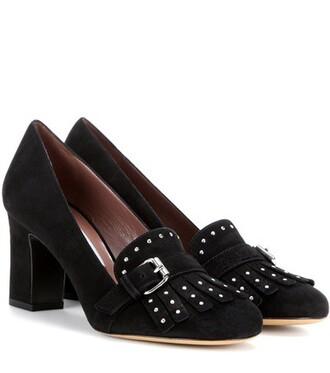 suede pumps embellished pumps suede black shoes