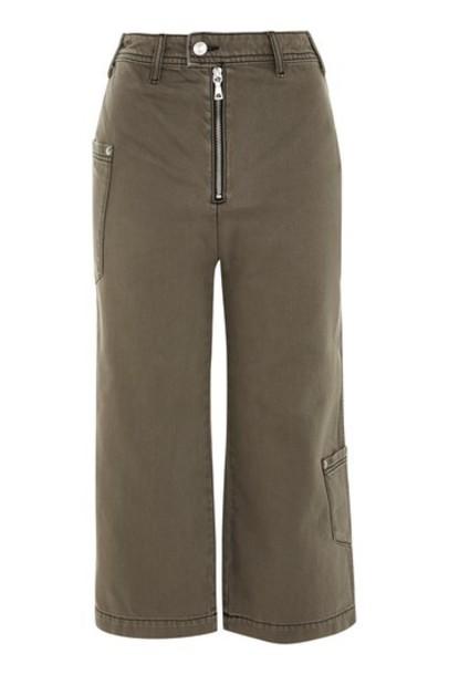 Topshop jeans cropped khaki