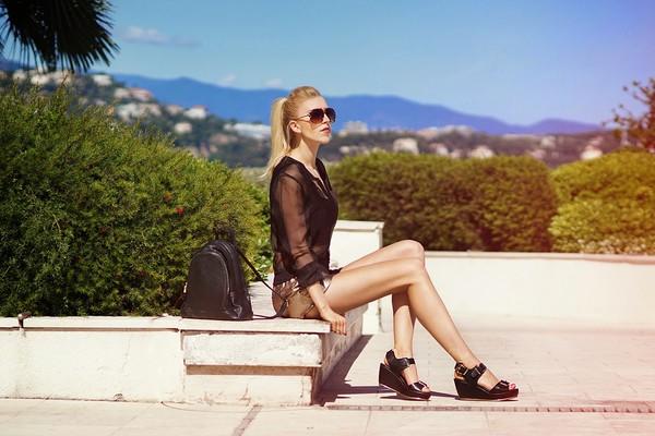 meri wild jacket top sunglasses jewels shoes make-up