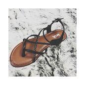 shoes,mia shoes,cute black sandals,black flats,strappy sandals,black strappy sandals,strappy flats,braided flats,braided shoes,braided sandals,summer shoes,black sandals,free vibrationz