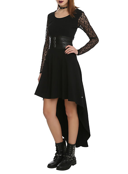 Royal Bones Black Lace Sleeve Salem Dress | Hot Topic