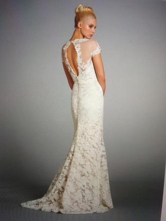 dress ivory dress lace dress bridesmaid