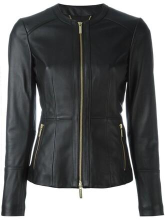 jacket women spandex leather black