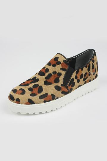 Street Chic Leopard Love Plimsolls [FABI1772] - PersunMall.com