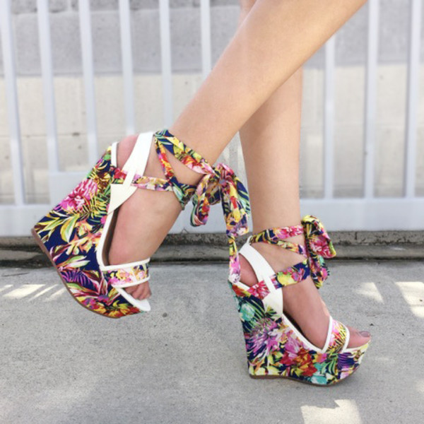 5cad5d4636df shoes cicihot wedges cute wedges floral spring summer fashion girly chic  sexy.