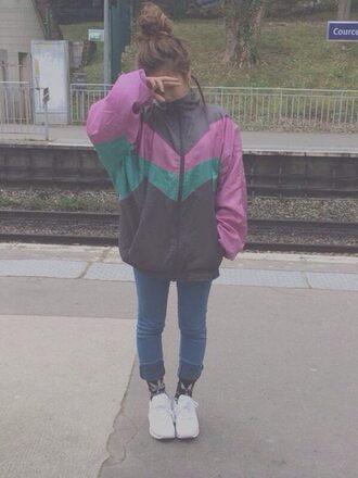 jacket vintage 80s style 90s style windbreaker