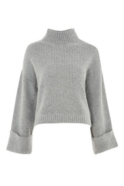 Topshop sweater back grey