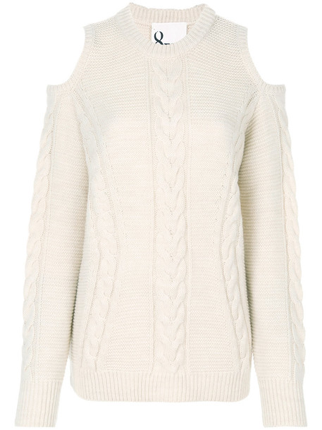 8pm sweater women cold white wool knit