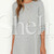 Grey Long Sleeve Round Neck Casual Dress -SheIn(Sheinside)