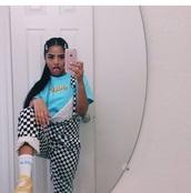 pants,checkered,overalls