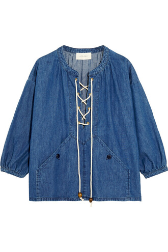 top denim top denim lace