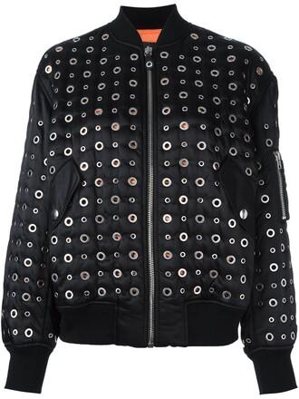 jacket bomber jacket women embellished black wool