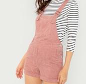 romper,girly,girl,girly wishlist,pink,corduroy,one piece,overalls,cute