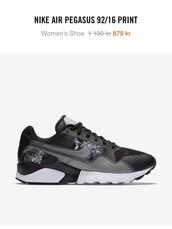 shoes,nike,black,nike air pegasus,sneakers