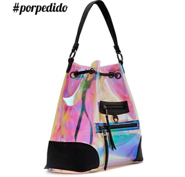 bag handbag transparent  bag transparent holographic bag holographic holographic