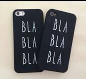 phone cover,bla bla bla,black cover,quote on it phone case